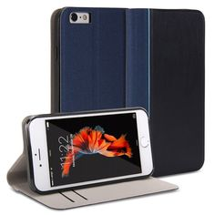 GMYLE Slim Wallet Case with Cardholder for Apple iPhone 6 / 6S - Navy Blue. Magnetic closure flap - Protects your device from accidental hard knocks and scratches. Wallet case design - Build in Card Slots and cash compartment. Durable - Not easily fade in color, high quality. Slim design with stand function. Plug your charger, cable or headset without removing the case.
