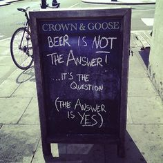 Beer is not the answer...a burger is!