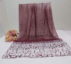 """$11.99   Scarf Shawl Wrap Scarf  62"""" Stripes & Confetti/Modern Animal Print"""