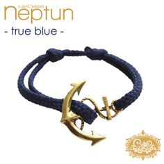 'cute & twisted - NEPTUN true blue' Armband von cute as a button auf DaWanda.com