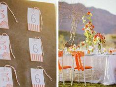 Une sélection de photos et de conseils de décoration pour un mariage orange réussi