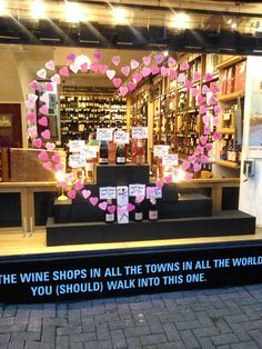 Valentines window at Oddbins Maida Vale