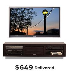 Pictures of Wall Mounted TV Stand - Pacific 60 Espresso