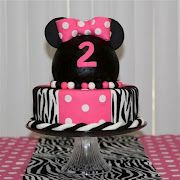 super cute ideas for minnie mouse birthday - the inside of the cake is so cool