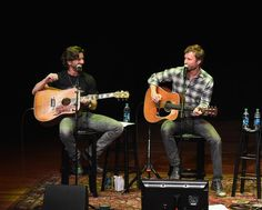 Dierks Bentley Photos Photos - Dierks Bentley (center) and Brett James perform during The Country Music Hall of Fame and Museum Presents an Interview and Acoustic Performance With Dierks Bentley and friends at the CMA Theater at the Country Music Hall of Fame and Museum on March 12, 2016 in Nashville, Tennessee. - The Country Music Hall of Fame and Museum Presents an Interview and Acoustic Performance with Dierks Bentley