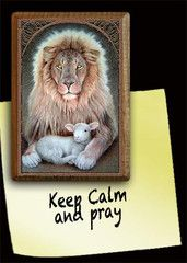 Lion and Lamb Magnet