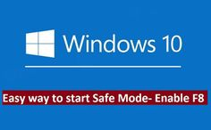 How to Get to Safe Mode in Windows if Windows 10 doesn't boot properly or no longer allows you to log on. This the easy way to enable key to start Safe Mode Windows Works with Windows Windows 10 Tutorials, Windows Operating Systems, Electronics Projects, Helpful Hints, Computers, How To Get, Key, Tips, Useful Tips