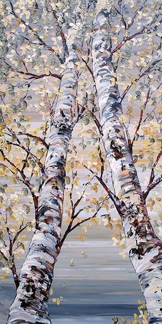 Maya Eventov Landscape Photography, Art Photography, Birch Tree Art, Art Corner, Autumn Painting, Abstract Nature, Paintings I Love, Pictures To Paint, Acrylic Art