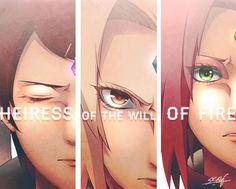 Badasses that got the Byakugou seal  Mito uzumaki,PrincesTsunade Senju & Sakura Haruno