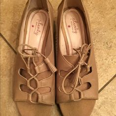 Tracy Reese kitten heels size 7.5 Cute kitten heels open toe with lace up detail size 7.5 great condition Tracy Reese Shoes Heels