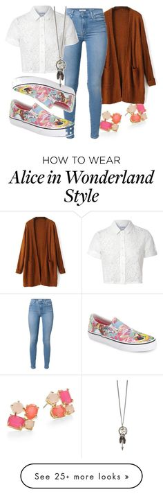 """#762"" by kekka199 on Polyvore featuring mode, Kate Spade, Vans et Glamorous"