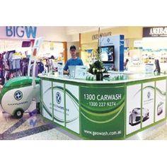 GeoWash kiosk in Australia mall.
