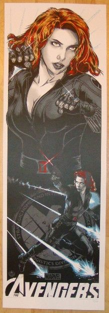 """2012 """"Avengers"""" - Black Widow Movie Poster by Rhys Cooper"""