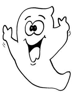 Disegni da stampare: i fantasmi di Halloween - Fantasmino divertente
