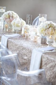 Trendy Glitter Wedding Ideas - loving the whole glitter movement - we are into this type of bling. keep the flowers simple but jazz it up with Glitter spice!