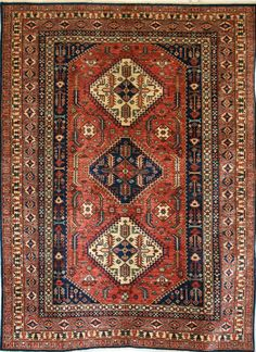 Oriental Hand-Knotted Kazak Rug in Wool (Cotton Foundation) - Ref: 1699 - 2.35m x 1.87m
