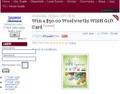Win A $50.00 Woolworths Wish Gift Card