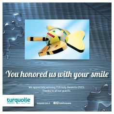 We appreciate winning TUI HOLLY Award in 2015. Thanks to all our guests!