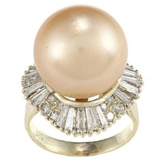 @Overstock.com.com.com - 14k Yellow Gold 1-3/4ct TDW Pearl Ring (L-M, SI1-SI2) - This lovely ring is made from a highly polished 14-karat yellow gold. It features AAA grade south sea pearls and 20 baguette diamonds for an amazing shine.    http://www.overstock.com/Jewelry-Watches/14k-Yellow-Gold-1-3-4ct-TDW-Pearl-Ring-L-M-SI1-SI2/6670636/product.html?CID=214117  $3,279.99   MARK-DOWN $2787.99