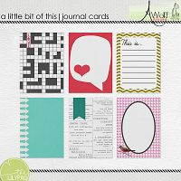 a little bit of this journal cards