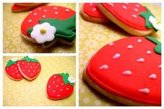 strawberry frosted cookies.