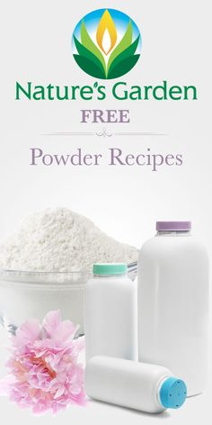 Free Powder recipes so you can make your own baby powder, body powder, silky powder. #babypowder