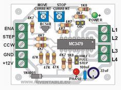 Proyecto DIY para la construcción de una pequeña unidad de potencia para motor paso a paso (step motor) con un solo circuito integrado.