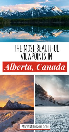 The Best Views in Alberta - Are you looking for the best views in Alberta? From flying over the Rocky Mountains to exploring Banff, these are some of the most beautiful viewpoints in all of Canada. >> Click through to read the full post! <<