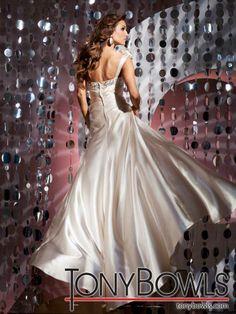 Tony Bowls 2012 Champagne Long prom Dress 112719    Promgirl.net