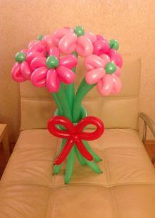 Цветы из шаров по низким ценам в Киеве