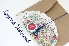 Crafty layered notecards. | 17 DIY Stationery Projects That Will Make You Want To Write A Letter