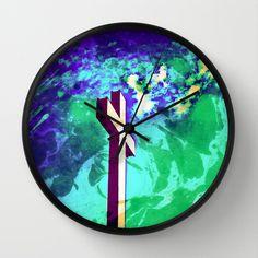 Holy Cross Purple & Green wall Clock