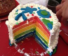 Recette RAINBOW CAKE par maga84p - recette de la catégorie Pâtisseries sucrées