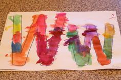 """learning the letter """"W"""" with watercolor paint"""
