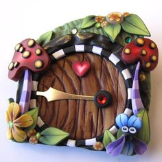 Wonderland Fairy Door Pin/Brooch via Etsy