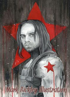 My drawing of the Winter Soldier Bucky Barnes. #WinterSoldier #buckybarnes #Marvel #drawing #fanart