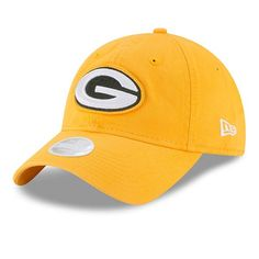 Green Bay Packers New Era Women s Secondary Core Classic 9TWENTY Adjustable  Hat Gold  GreenBayPackers Nfl 522f15d98
