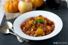 Butternut squash apple chili