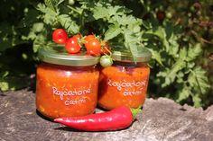 Pikantní rajčatové čatní s provensálskými bylinkami Cantaloupe, Salsa, Food And Drink, Jar, Stuffed Peppers, Fruit, Vegetables, Drinks, Drinking