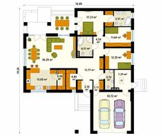 Projekt domu Ambrozja 7 - rzut parteru