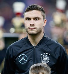 Jonas Hector of Germany looks on prior to the International Friendly match between France and Germany at the Stade de France on November 13 2015 in...
