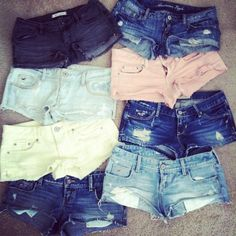 You call them shorts, I call them DENIM UNDERWEAR. You do not need to show so much. It's rather disgusting.