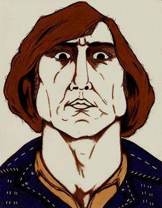 COIN TOSS -  Anton Chigurh - No Country For Old Men Movie Character Print - Wall Art, Tattoo Art Print, Villain, New Orleans Artist, Poster