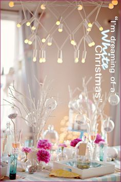 Modern Christmas tablescape: Teal, Fuschia, & White | pepper design blog