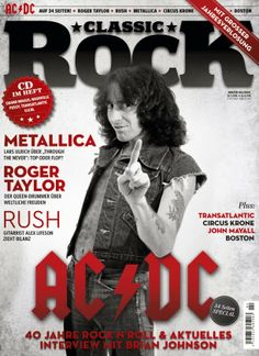 Bon Scott on the cover of Classic Rock Magazine 2014 (German Edition) Bon Scott, Heavy Metal Music, Heavy Metal Bands, Metallica, Nashville, Rolling Stone Magazine Cover, Dc Icons, Angus Young, Roger Taylor