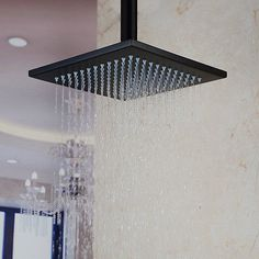 "8"" Rain Shower Head W/ Shower Arm Oil Rubbed Bronze Ceiling Mount Top Sprayer"