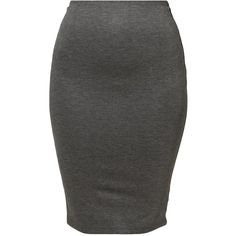 American Apparel Pencil skirt dark heather grey ponte ($33) ❤ liked on Polyvore featuring skirts, bottoms, mottled dark grey, patterned pencil skirt, jersey knee length skirt, jersey pencil skirt, american apparel skirt and elastic waist skirt