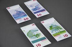 United World Bank Money by Lili Köves, via Behance....kinda creepy idea.