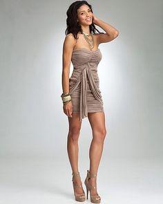 Bebe Slinky Overlay Dress