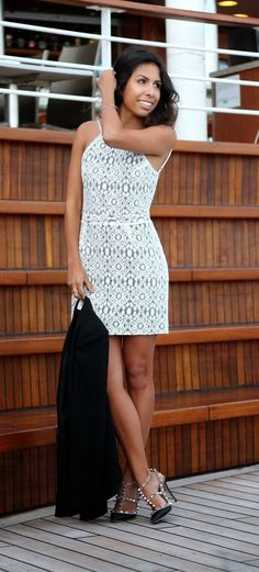 perfect lace dress for engagement party or bridal shower